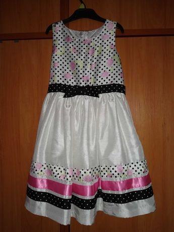 Sukienka wizytowa dla małej damy rozm.128, wesele, urodziny, balik