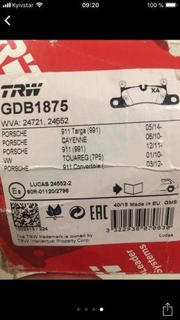 Набор колодок на порш передние и задние Porsche Lexus