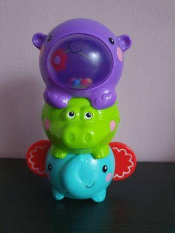 Kolorowe zwierzaki do układania Fisher Price