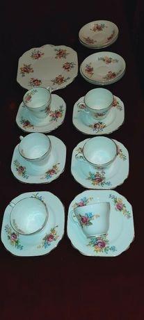Vintage Stanley serwis piekna angielska kostna porcelana filizanka