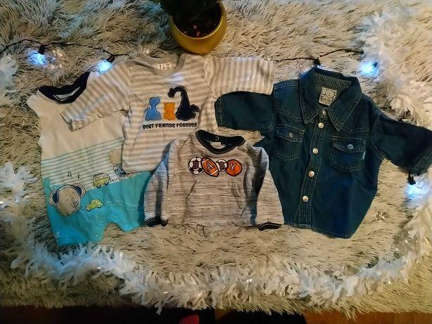 Zestaw 4 szt. ubranek na niemowlę rozm. 56 (rampers i bluzeczki)