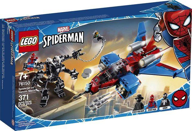 Lego Super Heroes Самолёт Человека-Паука против Робота Венома 76150