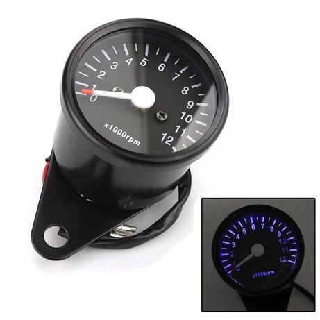 Conta-rotações tacómetro analógico moto cafe racer