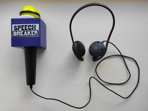 Микрофон с наушниками Speech Breaker Game. Прерыватель речи