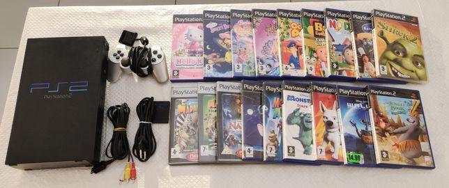 PlayStation 2 com jogos infantis - PS2