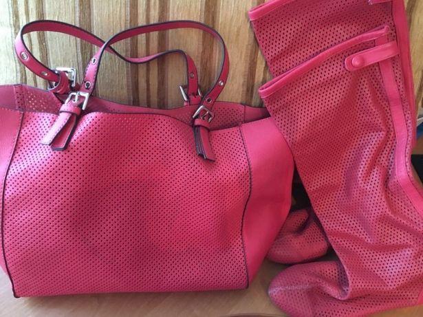 Яркая сумка-шоппер 3 в 1 с перфорацией из качественной иск.кожи