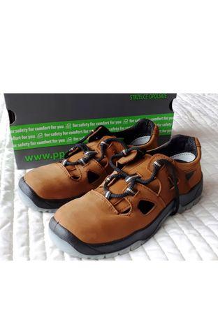 Buty ze skóry nybukowej o rozmiarze 44 wkładka 29 cm.Super jakość.