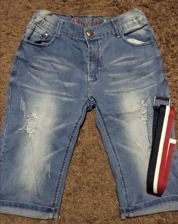 Бриджи, шорты джинсовые на мальчика-подростка