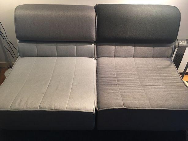 Sofá modular cinzento - 4 lugares