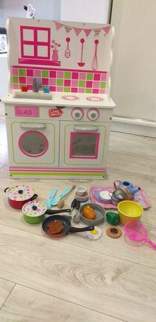 Domek dla lalek z kuchenką+akcesoria