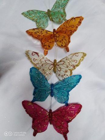 Бабочка декоративная на прищепке для декора.