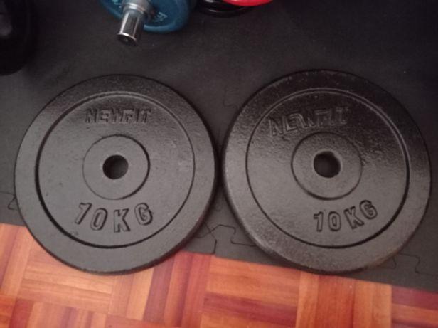 Pesos musculação 10 kg