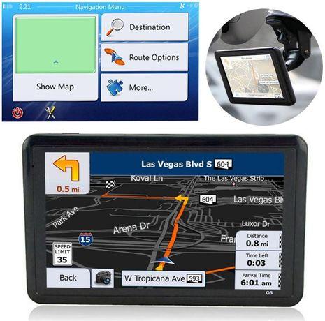 """GPS navegador NOVO (ecrã 7"""" e 5"""") com iGo mapas para camiões recentes"""