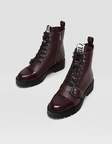 Ботинки Stradivarius, Эко-кожа, размер 38.