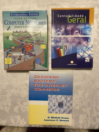 Livros Computer network, internet commerce, contabilidade