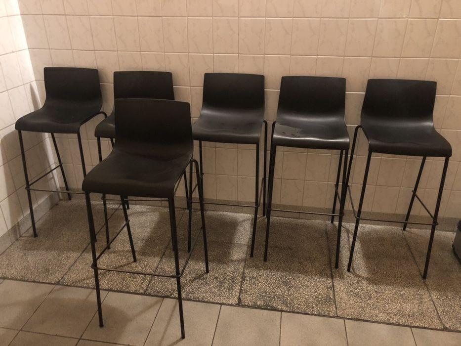 Krzesła barowe hokery 8 szt. Płock - image 1