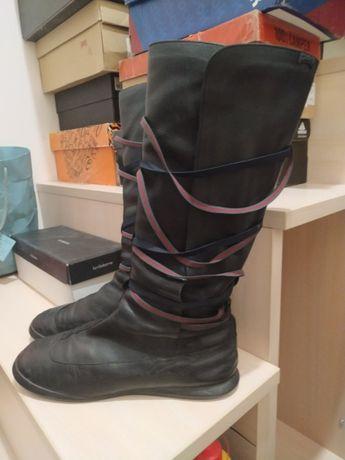 шкіряні чоботи жіночі Camper з шнурівками
