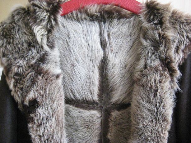 Kożuch naturalny kożuszek toskan XL