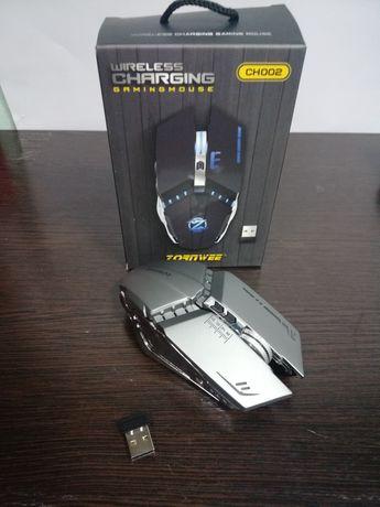 Игровая Беспроводная аккумуляторая металлическая мышка CH002