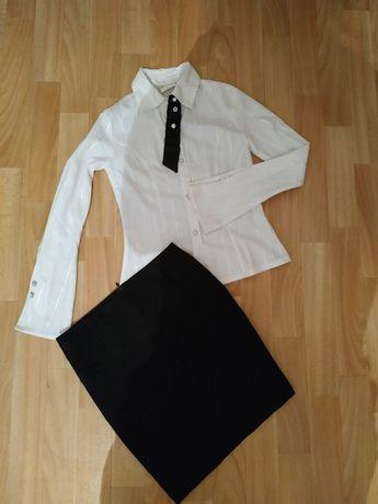Школьная форма юбка блузка для девочки подростка