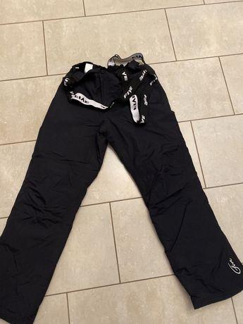 Five Seasons r. S spodnie zimowe narty/sanki czarne, szelki, uniseks M