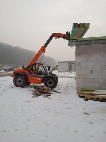 Usługi ładowarką 100zł/h teleskopową ładowarka teleskopowa usługa