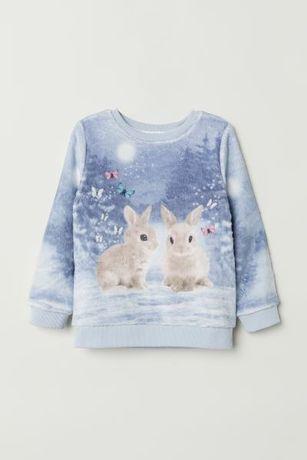 Тепленький красивый свитер Hm 6-8 лет