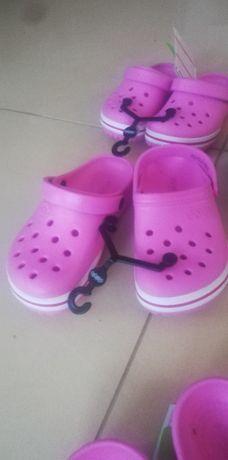 CROCS JIBBITZ klapki dla dziewczynki różowe C8, C10, C11