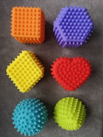 Kostki sensoryczne zabawki sensory kształty Dumel