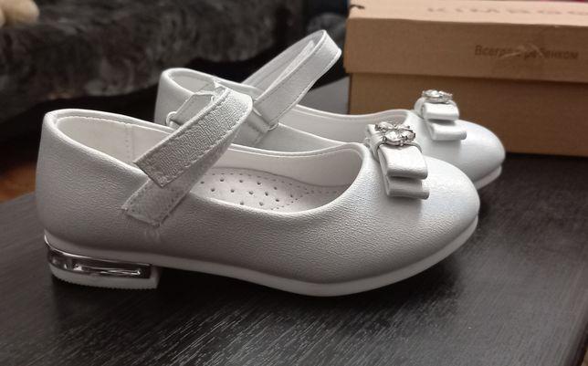 Туфельки белые для девочки