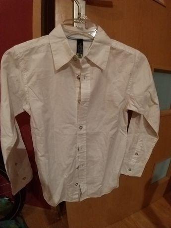 Nowa koszula 140cm biała 5 10 15