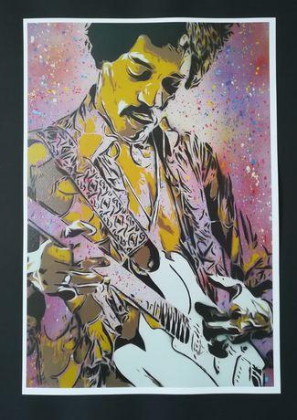 Posters Jimi Hendrix, Kurt Cobain, David Bowie, Frida Kahlo, etc.