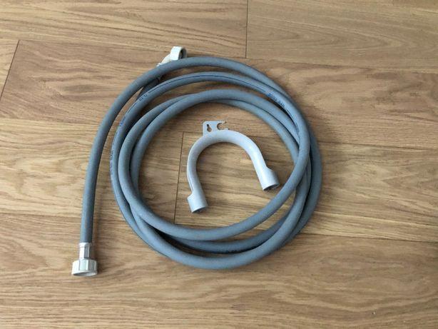Wąż z filtrem do pralki dopływowy zasilający 390 cm + zawieszenie
