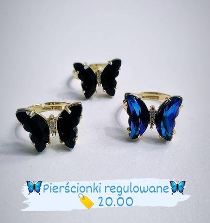 Pierścionki Motylki NOWE