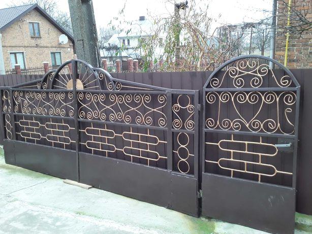 Продам ворота з хвірткою браму