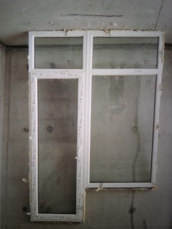 Новый металопластиковый стеклоблок дверь с окном