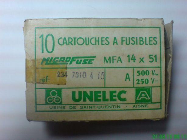 Предохранитель UNELEC 10а-20а-63а ~500в Франция