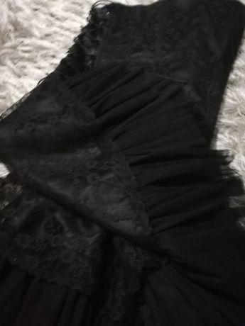 Sukienka koronka gorset czarna roz 36