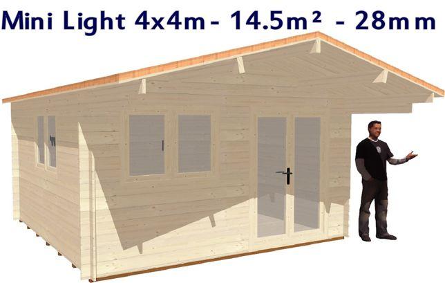 MINI LIGHT 4x4m - 28 mm - 14.5m² / Casas modulares - Wooden home