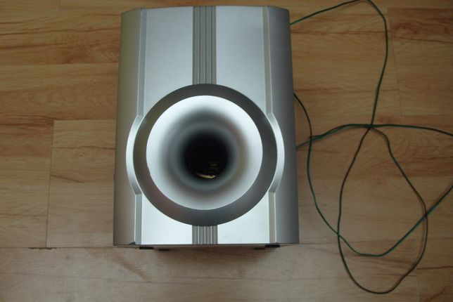 Głośnik srebrny tanio