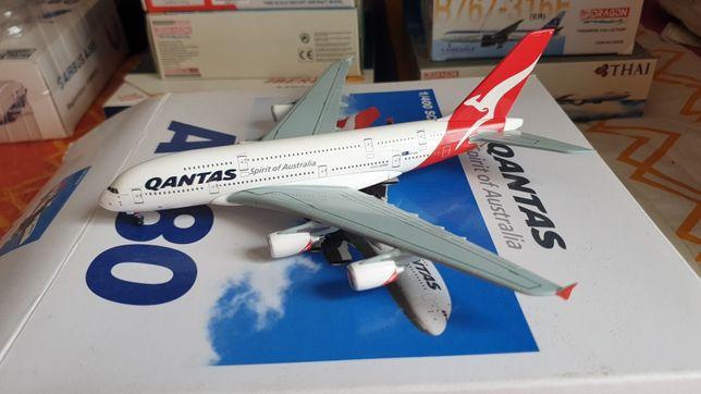 Modelo de avião 1:400 1/400 A380 Qantas