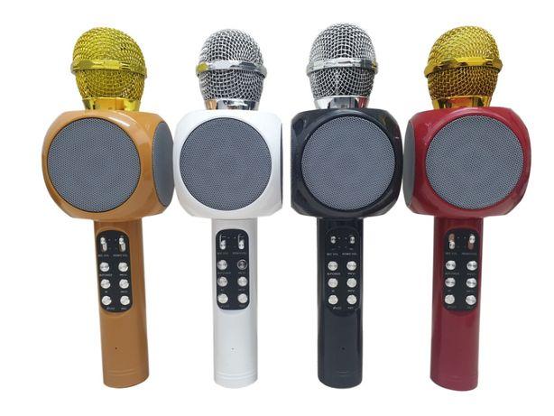 Mikrofon bezprzewodowy karaoke bluetooth głośnik LED