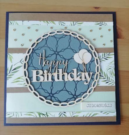 Ręcznie wykonana kartka urodzinowa