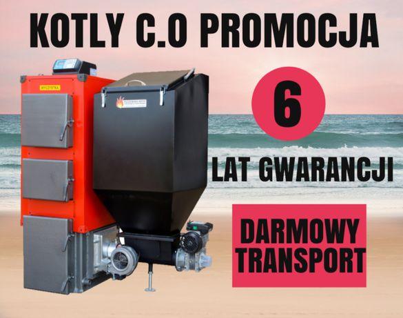 Kocioł 27 kW do 220 m2 PIEC na EKOGROSZEK z PODAJNIKIEM Kotly 24 25 26