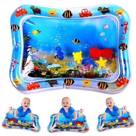 """Детский развивающий надувной водный коврик """"Подводный мир"""""""
