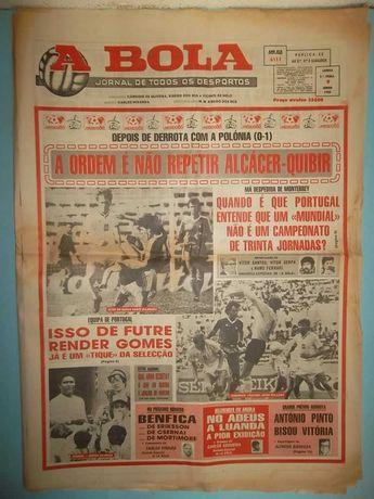 Jornais Desportivos A BOLA de 1986