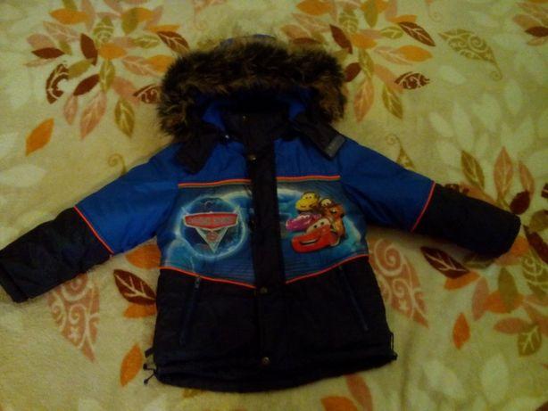 Зимняя куртка на мальчика с искусственной овчиной Макквин 124р.
