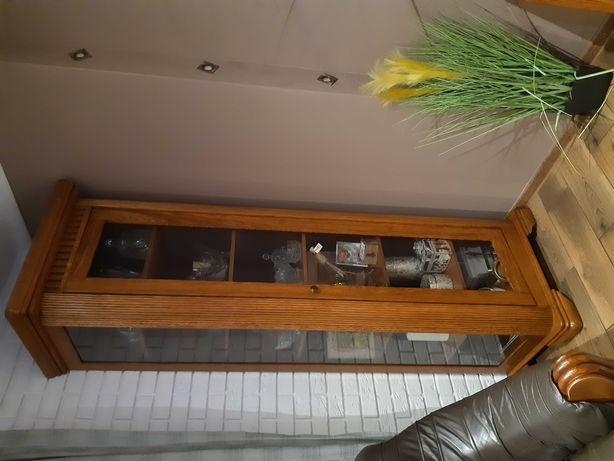 Mebel drewniane komoda, witryna