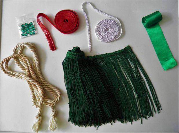 Остатки от рукоделия: тесьма, шнур, лента, бахрома, стразы, куски ткан