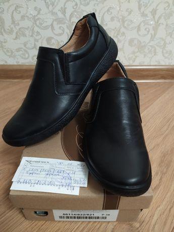 Туфли новые р.38 BISTFOR кожа